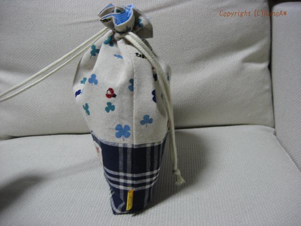 クローバーてんとう虫ブルー:体操服袋