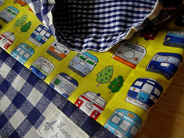 カラフル電車イエロー:体操服袋