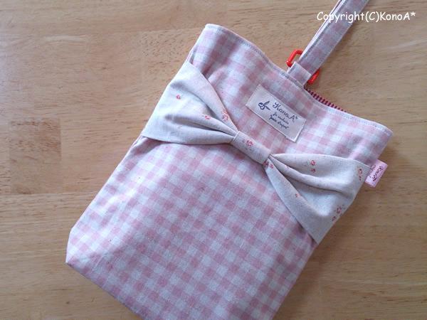 ピンクラッピングリボン:シューズ袋