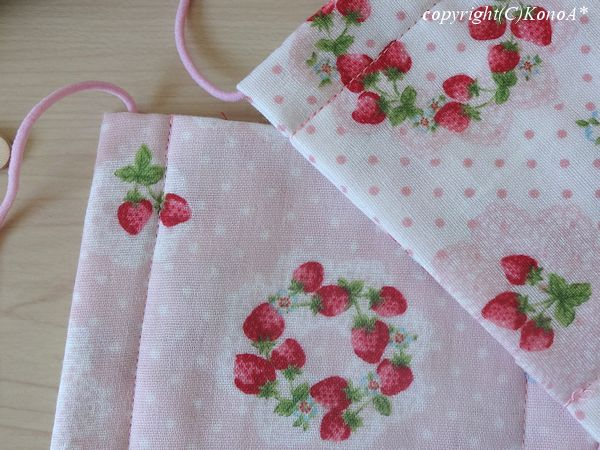 苺サークル白×ピンク:マスク
